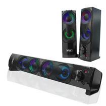 Caixa de Som Para PC Gamer Sound Bar Led Usb Black Original - Knup