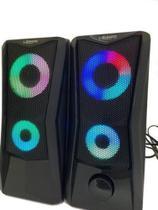 Caixa de Som PC Gamer RGB Lehmox Hyper GT - S4 -