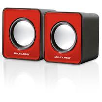 Caixa de som pc note tv 3w sp197 vermelha - multilaser -