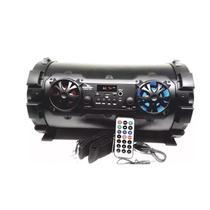 Caixa de som portatil bluetooth amplificada 6 em 1 usb fm mp3 sd controle remoto entrada microfone e - Knup