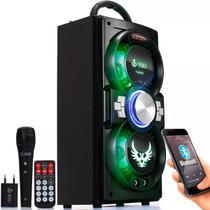 Caixa De Som Portátil Bluetooth Amplificada com Microfone - Infokit