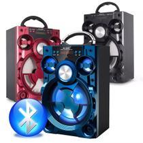 Caixa De Som Portátil Bluetooth Amplificada Selada Usb Sd Mp3 Radio Fm Cartão Pendrive Azul - Ltomex