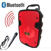 Caixa De Som Portátil Bluetooth Entrada Microfone Super Potente - Altomex AL - 6113