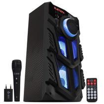 Caixa De Som Portatil Bluetooth Infokit Vc-m883qbt Microfone Cor Preta -