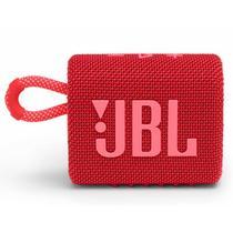 Caixa de Som Portátil Bluetooth JBL GO3 IPX7 a Prova de Água Autonomia de 5 Horas Vermelha -