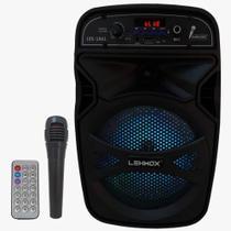Caixa De Som Portátil Bluetooth Microfone 6.5 Polegadas - Lehmox