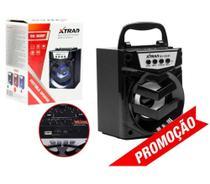 Caixa de Som Portátil Bluetooth Mp3 USB Radio Fm Auxiliar 6W 302BT - Preto - Inova