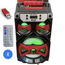 Caixa de Som Portátil bluetooth USB FM SD Completa - Idea