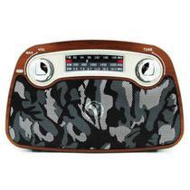 Caixa De Som Portatil Pgx-085 - Cor Camuflagem - Plugx