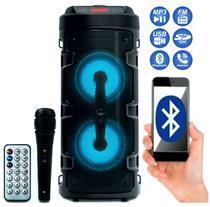 Caixa De Som Portátil Rádio Fm Bluetooth Usb Sd Microfone  E Controle - Grasep -