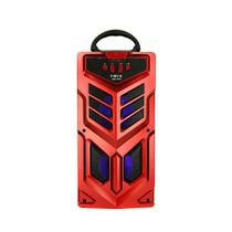 Caixa De Som Portátil Sem Fio Com Microfone - Vermelha - RAD-8168 - Inova -