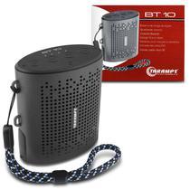 Caixa de Som Portátil Taramps BT-10 Bluetooth 3W RMS Micro SD AUX P2 Viva Voz Fone de Ouvido -