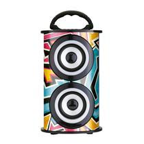 Caixa De Som Portátil TRC 218E Bluetooth  Fm/Aux/Sd/Usb Colorida -