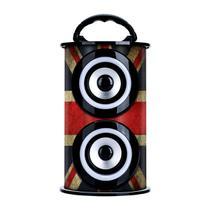 Caixa De Som Portátil TRC 218E Bluetooth Fm/Aux/Sd/Usb Vermelha/Azul -
