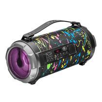 Caixa De Som Pulse Bazooka PB Bluetooth 120W Bivolt Preta -