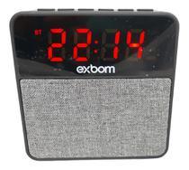 Caixa De Som Rádio Relógio Despertador Bluetooth Alarme Mp3 - Exbom
