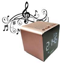Caixa de Som Rádio Relógio FM Bluetooth Despertador LE-673 - Lelong