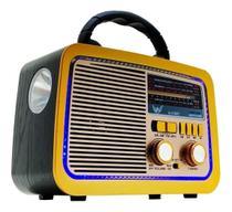 Caixa de Som Rádio Retrô Com Bluetooth AM FM USB Pendrive - Altomex