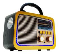 Caixa de Som Rádio Vintage Retrô Bluetooth AM FM USB Pendrive - Cumaru
