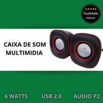 Caixa De Som Redonda Mini Usb Pc/notebook Portatil Color - PLUGX