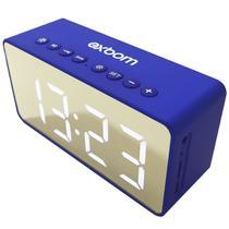 Caixa de som relogio digital com espelho - azul - cs-mt6bt - Exbom
