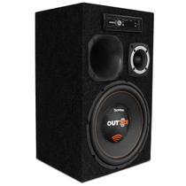 "Caixa de Som Residencial Bob Portátil Bivolt Bomber Outdoor 300W 12"" + Módulo + Fonte + MP3 Player - Kit Som E Vídeo"