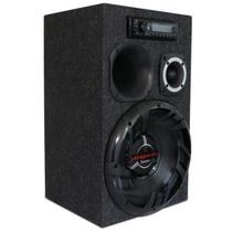 Caixa de Som Residencial Bob Portátil Bivolt Bomber Upgrade 350W 12'' + Módulo + Fonte + MP3 Player - Kit Som E Vídeo