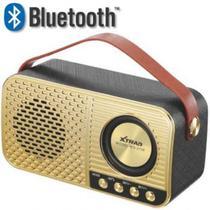 Caixa De Som Retro Xtrad Bluetooth Sd Usb Fm Ws-3138 Preto -