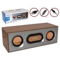 Caixa de som soundbar em madeira usb ou p2 de mesa e parede para televisao notebook tv e computador - Gimp