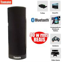 Caixa de Som soundbar Super Bass Bluetooth amplificada 40w Tv Pc Celular - Tomate