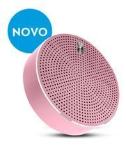 Caixa de som speaker estereo metalico bluetooth elsys - rosa -