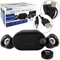 Caixa de som subwoofer bluetooth caixinha home theater portatil com usb sd pc notebook 11w recarrega - Knup