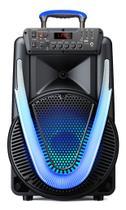 Caixa De Som SUNNY II 500W - 12 POL - BT/AUX/SD/USB/FM/LED - SP395 - Multilaser