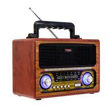 Caixa de Som TRC 213 Retrô 35W RMS Bluetooth Madeira -