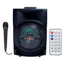 Caixa de Som TRC Amplificada Bluetooth USB 220W Preta - TRC 5522 - Trc Sound
