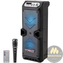 Caixa de Som TRC Ativa Dupla 35W TRC 219 Bluetooth Microfone Com Fio -