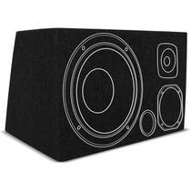 Caixa de Som Trio Dutada 45 Litros Preto MDF para 1 Alto Falante 12 Polegadas - R-Acoustic