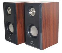 Caixa de som usb em madeira para notebook e pc com fio gt-pcx2 golden ultra -