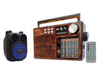 Caixa de Som Wireless Kimiso e Rádio Retro Portátil Fm Kit -