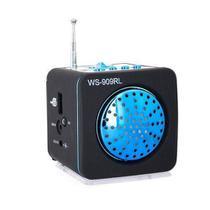 Caixa de som WS-909RL SD/USB e Rádio Fm - Azul - Speaker