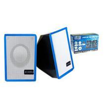 Caixa de Som X-Cell Para PC/Notebook P2 USB C/ Controle Vol. Azul - XC-CM-07 -