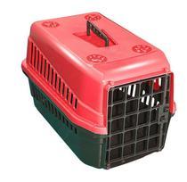 Caixa De Transporte N3 Para Cães E Gatos Grande Vermelha - Mecpet