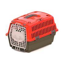 Caixa de Transporte Pet Injet Love Travel Vermelha Tamanho 1 -
