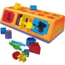 Caixa encaixa brinquedo educativo maior 1 ano - estrela -