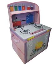 Caixa fogãozinho cozinha infantil porta brinquedos organibox -