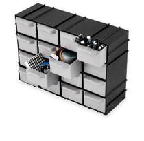 Caixa Gaveteiro Plástico Organizador Multiuso Com 16 Gavetas - Arqplast