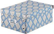Caixa Guarda Tudo A4 Decorada Azul Bella Tavola 32x24x13 - Globimport
