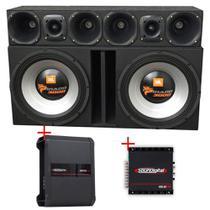Caixa Jbl 2 Alto Falantes 15SWT3000 + Corneteira Selenium + Módulos Soundigital - Vinisound