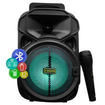 Caixa Karaoke Microfone Bluetooth Usb Pen Drive Fm Portatil - X-Zhang