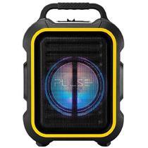 Caixa Karaokê PULSE SP295 80 watts com Bluetooth / USB / FM Bivolt Preta / Amarela -